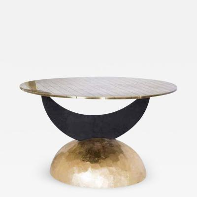 Rooms Half Moon Brass Table I Rooms