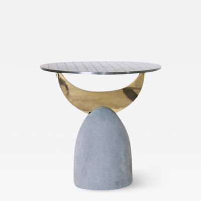 Rooms Half Moon Brass Table II Rooms