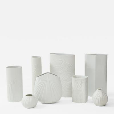 Rosenthal 1960s Modernist Porcelain Vases Collection By Rosenthal