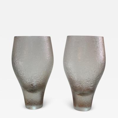 Rosenthal 1960s Rosenthal Modern Glass Vases