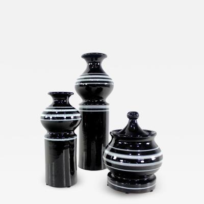 Rosenthal Netter Three Mid Century Modern Ceramic Jars by Rosenthal Netter