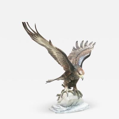 Rosenthal Polychrome porcelain eagle 1930s