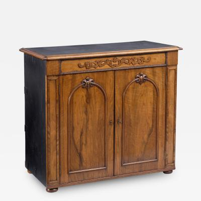Ross Co Dublin Irish Walnut Campaign Side Cabinet Circa 1860