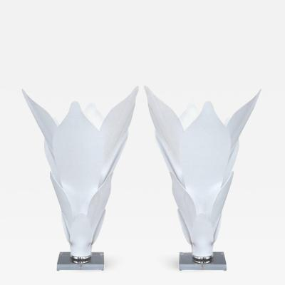 Rougier Acrylic Sculptural Lamps in the style of Rougier