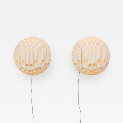 Rougier An Exceptional Pair of Spherical Wall Sconce by Rougier Canada Late 1970s
