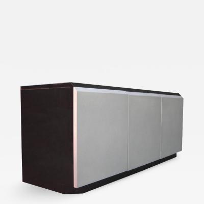 Rougier Canadian Glamorous Iridescent Lacquered Credenza by Rougier