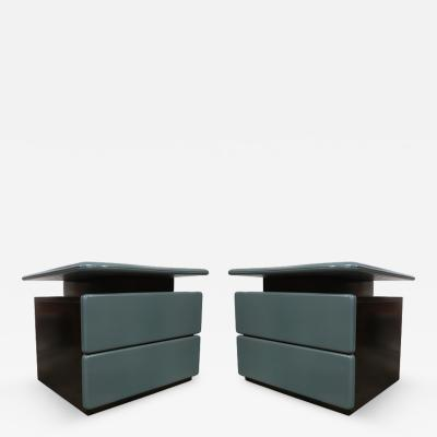 Rougier Canadian Pair of Side Tables by Rougier