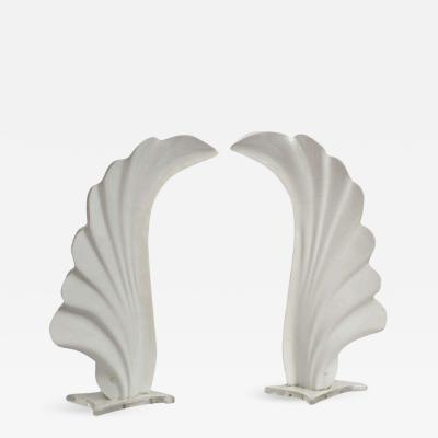 Rougier Very Attractive Pair of Shell Shaped Rougier Table Lamps in Excellent Condition