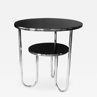 Royal Chrome 1930 s Streamline Art Deco Chrome Round Occasional Table by Royalchrome