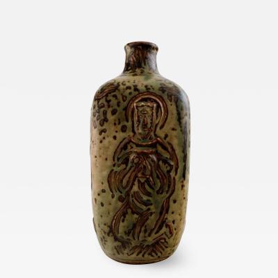 Royal Copenhagen Ceramic vase sung glaze