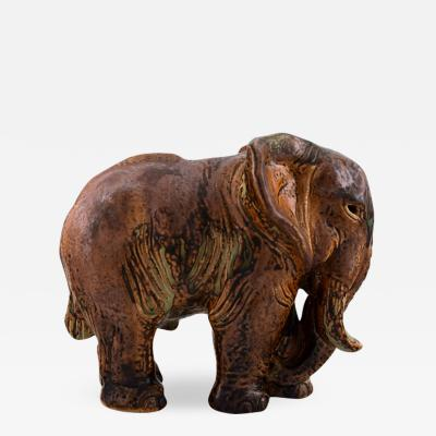 Royal Copenhagen Knud Kyhn for Royal Copenhagen Large elephant in glazed stoneware