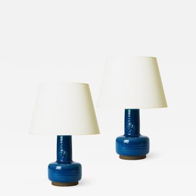 Royal Copenhagen Pair of Mid Century Modern Lamps by J rgen Mogensen