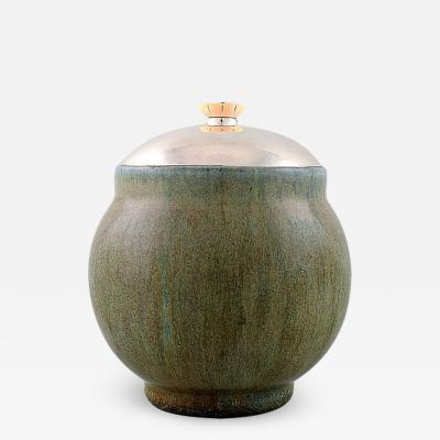 Royal Copenhagen Patrick Nordstr m Carl Halier lidded jar in stoneware for Royal Copenhagen