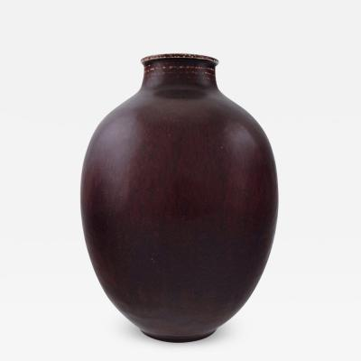 Royal Copenhagen Royal Copenhagen Kresten Bloch unique stoneware vase in oxblood glaze