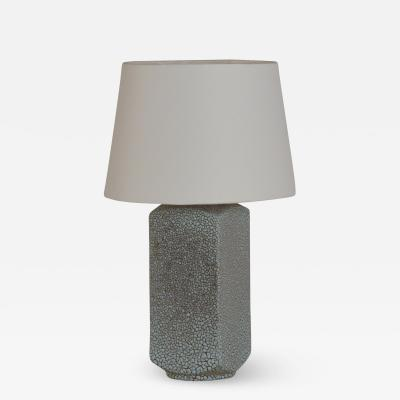 Royal Haeger Chic Art Deco Shagreen Glaze Ceramic Lamp with Parchment Shade