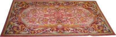 Royal Manufacture of Aubusson Two Large French Mid Century Hand Knotted Wool Carpets Attributed to Aubusson