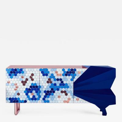 Royal Stranger Honeycomb Blue Sideboard Royal Stranger