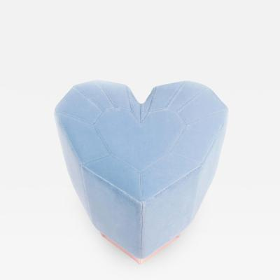 Royal Stranger Light Blue Queen Heart Stool by Royal Stranger