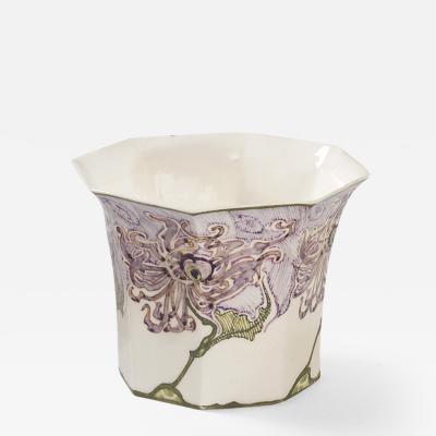 Rozenburg Porcelain Dutch Eggshell Porcelain Vase by Rozenburg