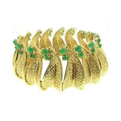 Ruser Ruser Emerald Gold Bracelet