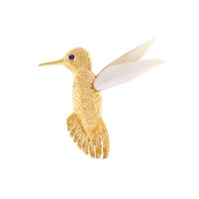 Ruser Ruser Hummingbird Brooch