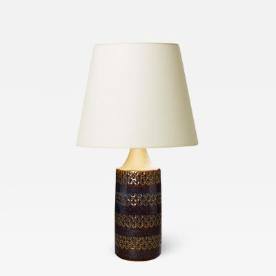S holm Ceramics Tall table lamp with luster glaze by S holm