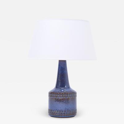 S holm Stent j Soholm ceramics Handmade Blue Danish Mid Century Modern Stoneware table lamp by Soholm