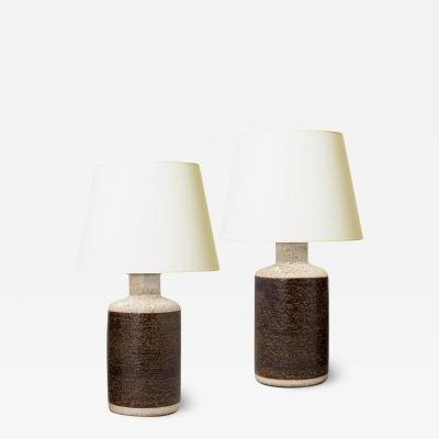 S holm Stent j Soholm ceramics Pair of Architectural Lamp with Rustic Texture by Soholm Stentoj