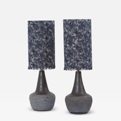S holm Stent j Soholm ceramics Pair of Ceramic Table Lamps by Soholm