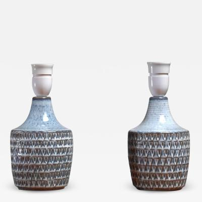 S holm Stent j Soholm ceramics Pair of Ceramic Table Lamps by Soholm Denmark 1960s