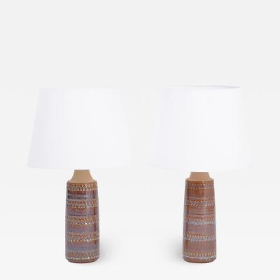 S holm Stent j Soholm ceramics Pair of Hand Made Danish Mid Century Ceramic Table Lamps by Soholm Stentoj