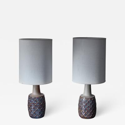S holm Stent j Soholm ceramics Pair of ceramic table lamps by Soholm Denmark 1960s