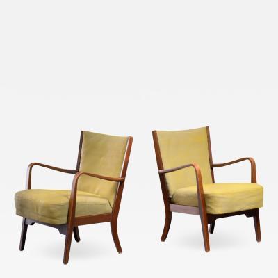 S ren Hansen Soren Hansen Pair of S ren Hansen armchairs for Fritz Hansen