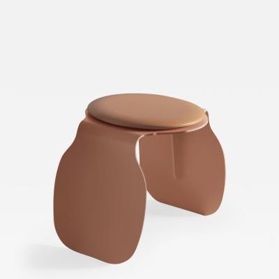 SECOLO Apollo 1 seat stool with cushion designed by Artefatto Design Studio
