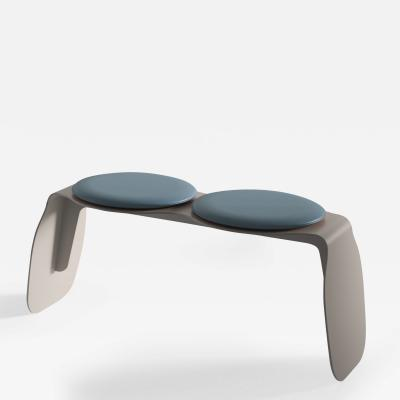 SECOLO Apollo 2 seat bench with cushions designed by Artefatto Design Studio