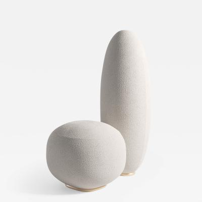 SECOLO Balancing Rock sculptural lounge chair designed by Artefatto Design Studio