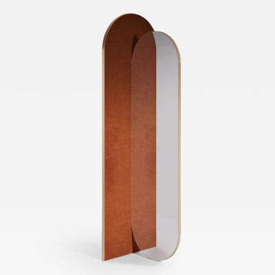 SECOLO Takada Freestanding Upholstered Mirror designed by Artefatto Design Studio