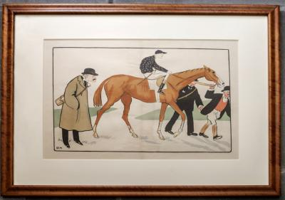 SEM Georges Goursat Racehorse and Jockey French Belle Epoque Print