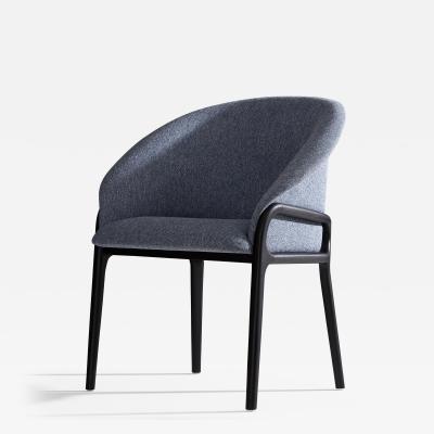 SIMONINI Minimal Organic Chair in Solid Wood Upholstered Seating