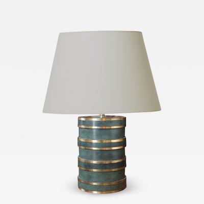 SVM Handarbete Rare Art Deco Table Lamp in Patinated Bronze Attrib SVM