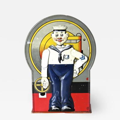 Saalheimer Strauss Mechanical Bank Saluting Sailor Circa 1920s