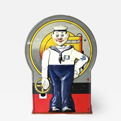 Saalheimer Strauss Mechanical Bank Saluting Sailor Circa 1920s