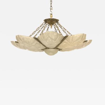 Sabino Art Glass French Art Deco Chandelier