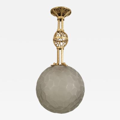 Sabino Art Glass French Art Deco Lantern