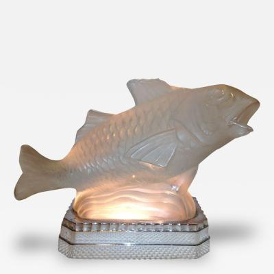 Sabino Art Glass Sabino French Art Deco Fish Light