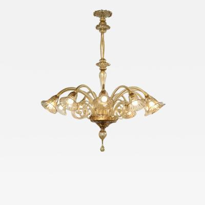 Salviati Twelve Arm Salviati Venetian Chandelier