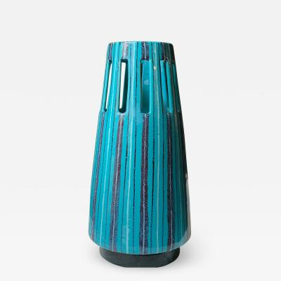 San Polo Turquoise Ceramic Vase By San Polo Venice Early 1950s
