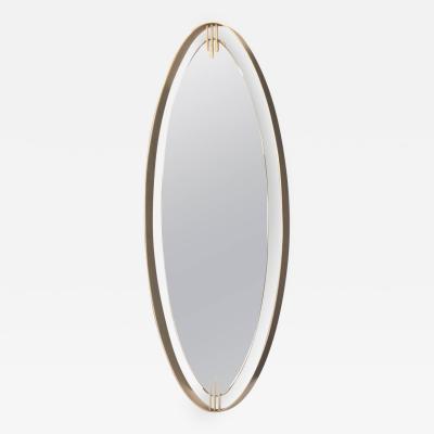 Santambrogio De Berti Textured Italian Chrome Mirror by Sant Abrogio De Berti 1960s