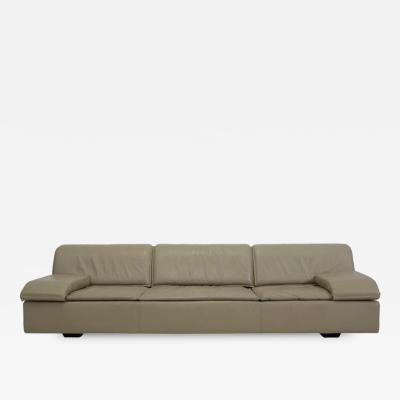 Saporiti Giovanni Offredi for Saporiti Leather Sofa