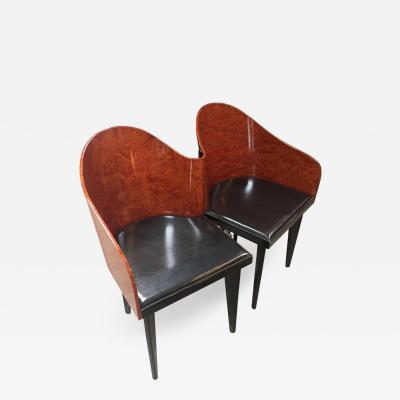 Saporiti Italian Vintage Pair of Saporiti Club Chairs 1980s